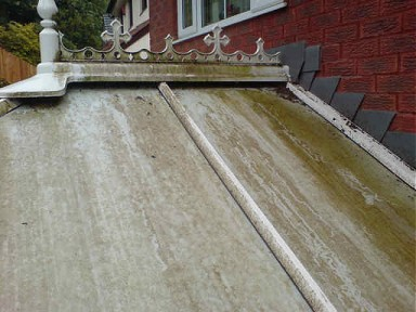 Conservatory roof before cleaning