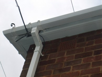 Gutter after cleaning